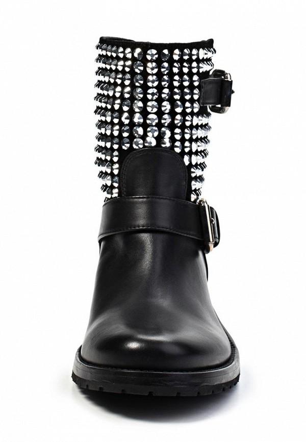 фото Женские полусапоги на низком каблуке Le Silla LE682AWKD116, черные