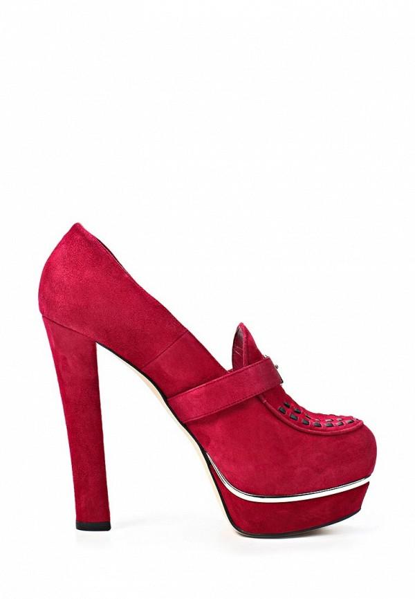 фото Туфли-лоферы на каблуке Le Silla LE682AWKD123, фуксия