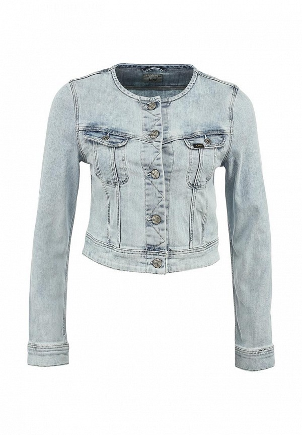 Куртка джинсовая Lee LE807EWAOA14. Цвет: голубой