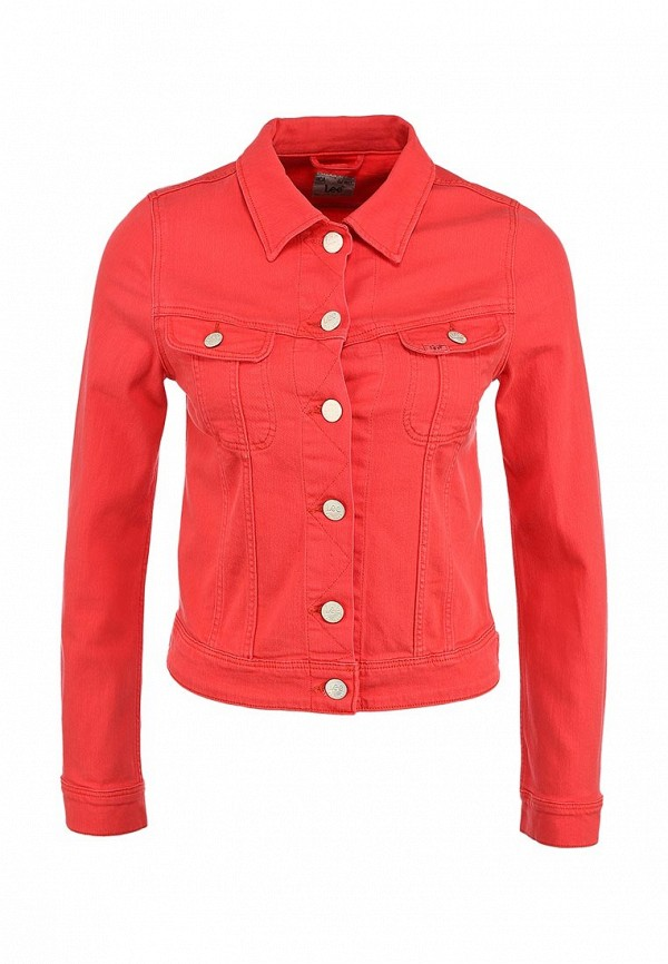 Куртка джинсовая Lee LE807EWAOA15. Цвет: красный