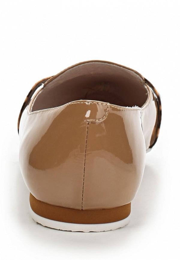 фото Балетки с острым носом LeFollie LE947AWBLP30, коричневые (кожа, лак)
