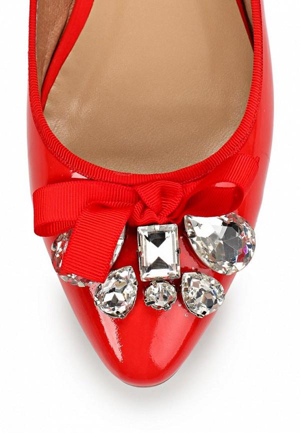 фото Балетки женские LeFollie LE947AWBLP39, красные кожаные