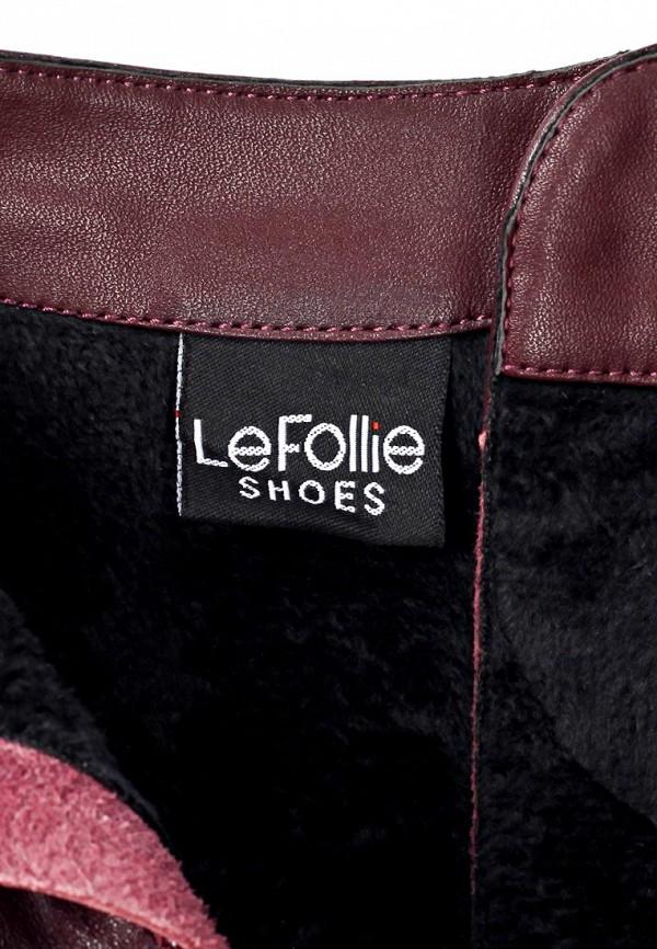 фото Ботильоны на платформе и каблуке LeFollie LE947AWJS642, бордовые со шнуровкой