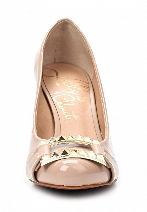 фото Туфли на устойчивом каблуке Lilly's Closet LI041AWAEU83, бежевые (кожа)
