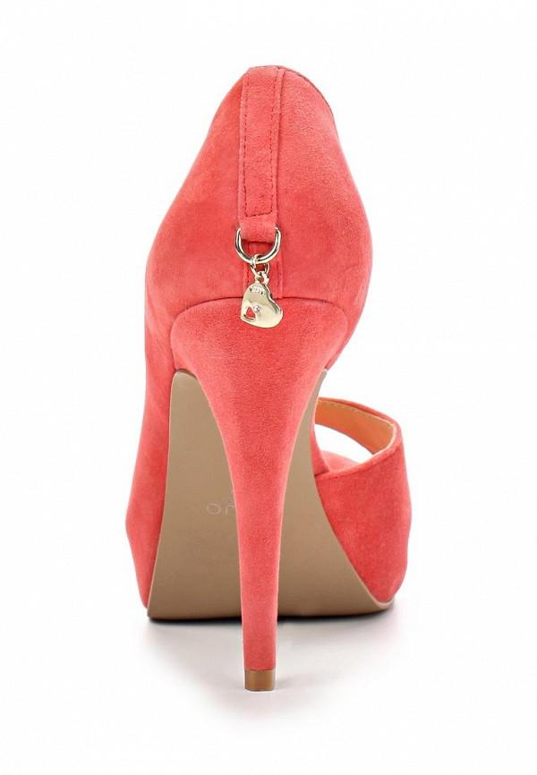 фото Туфли на платформе с открытым носом Liu Jo LI687AWBCV06, красные/каблук