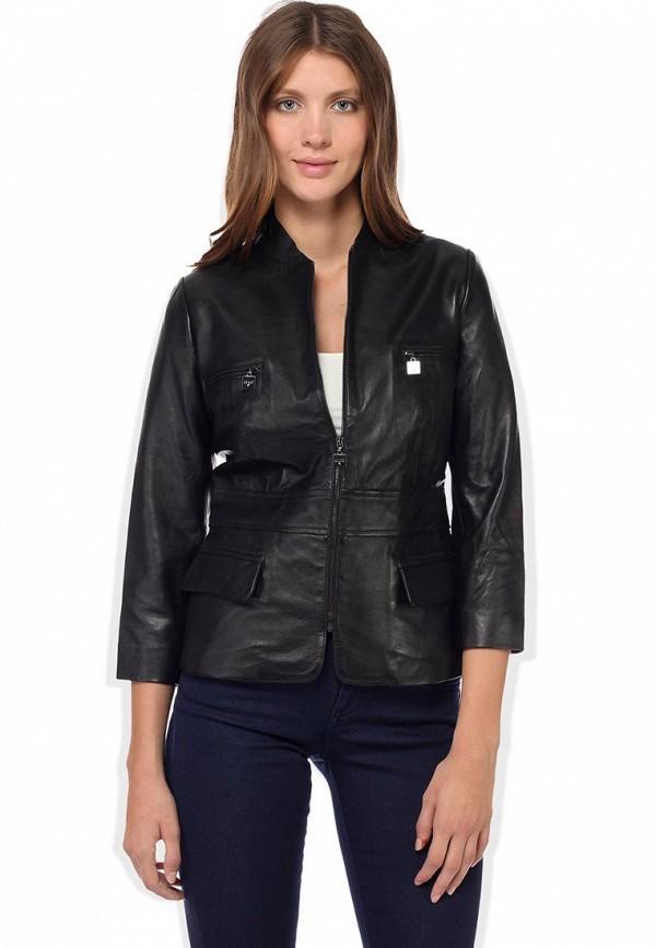 Куртка кожаная Liu Jo LI687EWCU875. Цвет: черный