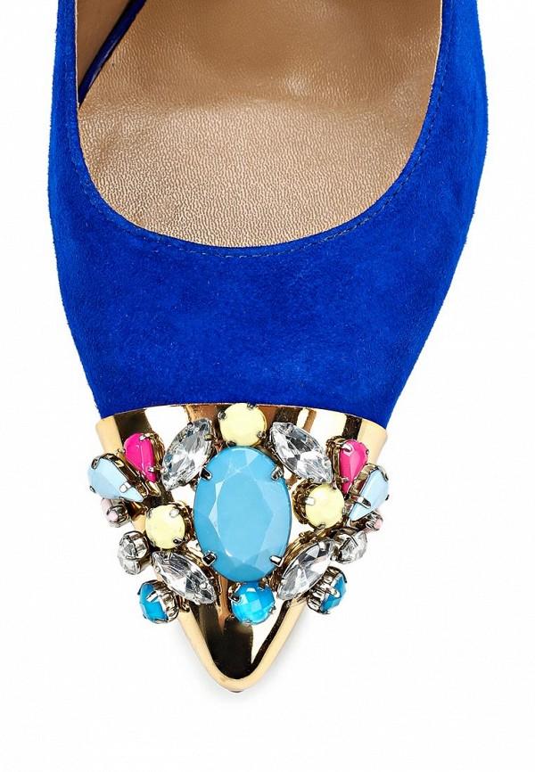 фото Туфли на каблуке Love Moschino LO416AWBCY66, синие замшевые