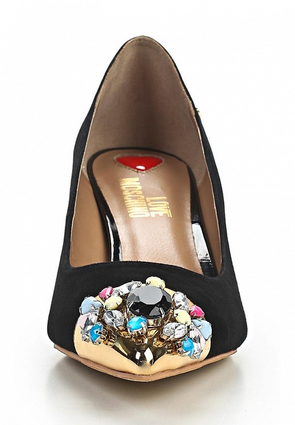 фото Туфли на низком каблуке Love Moschino LO416AWBCY68, черные