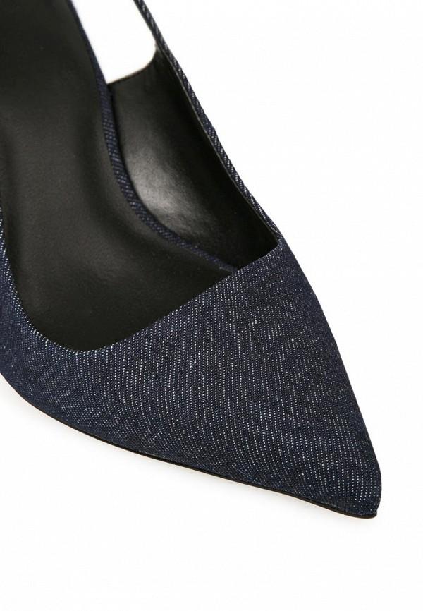 фото Туфли на каблуке без задника Mango MA002AWBSF21, синие джинсовые