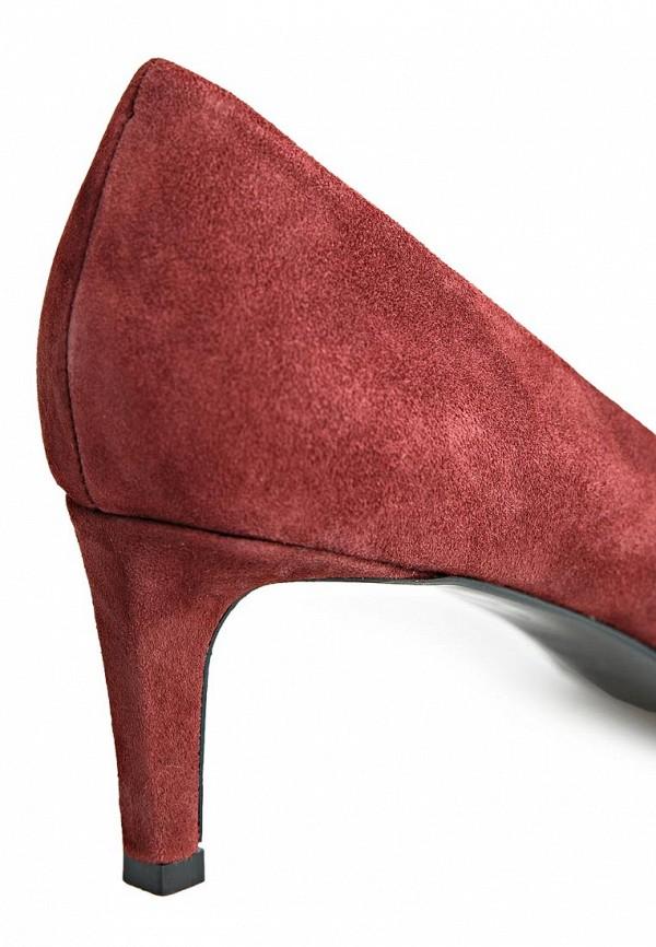 фото Туфли женские на каблуке Mango MA002AWCDC30, бордовые