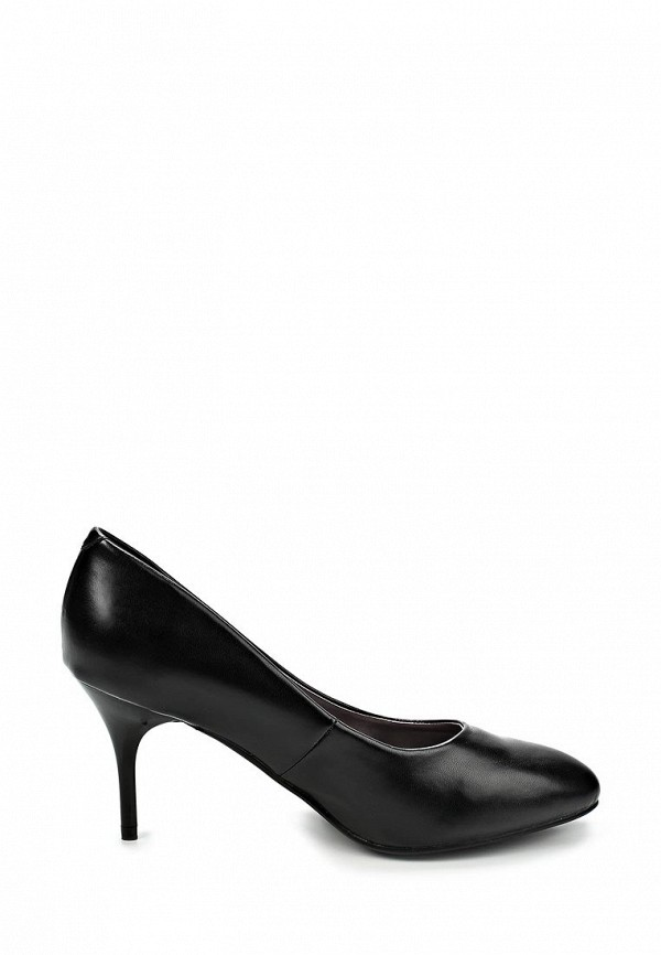 фото Женские туфли на каблуке Makfine MA043AWCAA79, черные кожаные