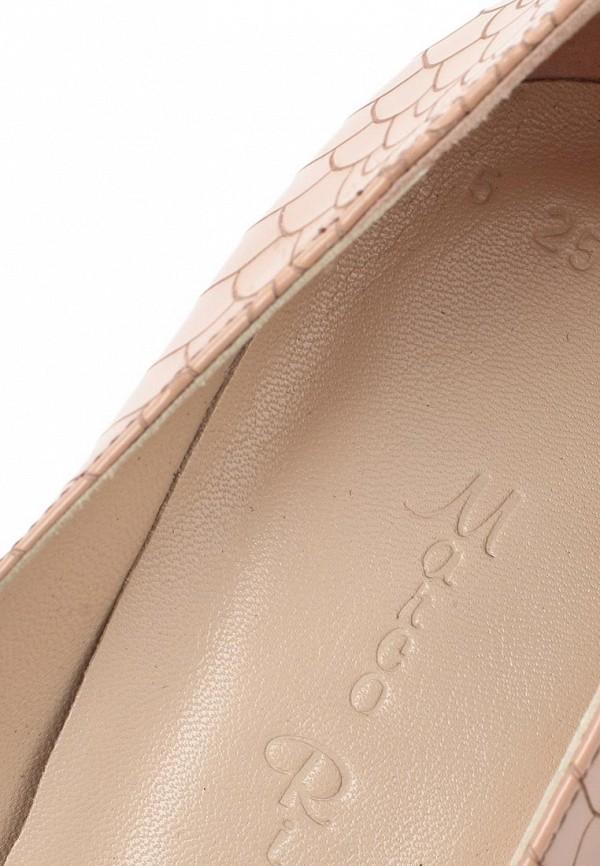 фото Туфли на платформе и каблуке Marco Rizzi MA045AWATC14, бежевые лаковые
