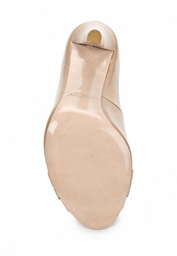 фото Туфли на каблуке Marco Rizzi MA045AWATC24, бежевые (лаковая кожа)
