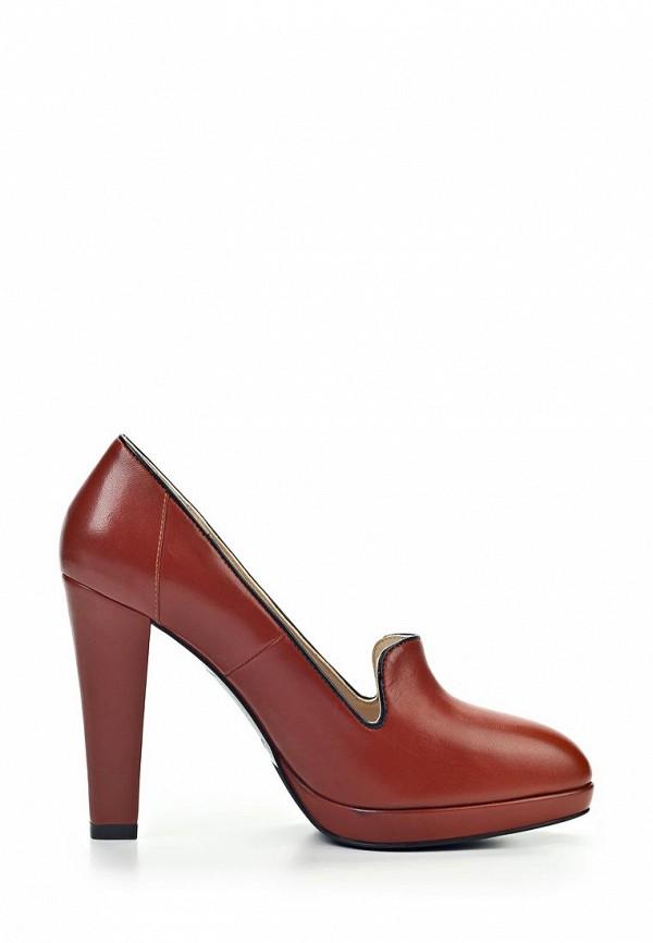 фото Туфли-лоферы на каблуке Marco Rizzi MA045AWJL774, коричневые