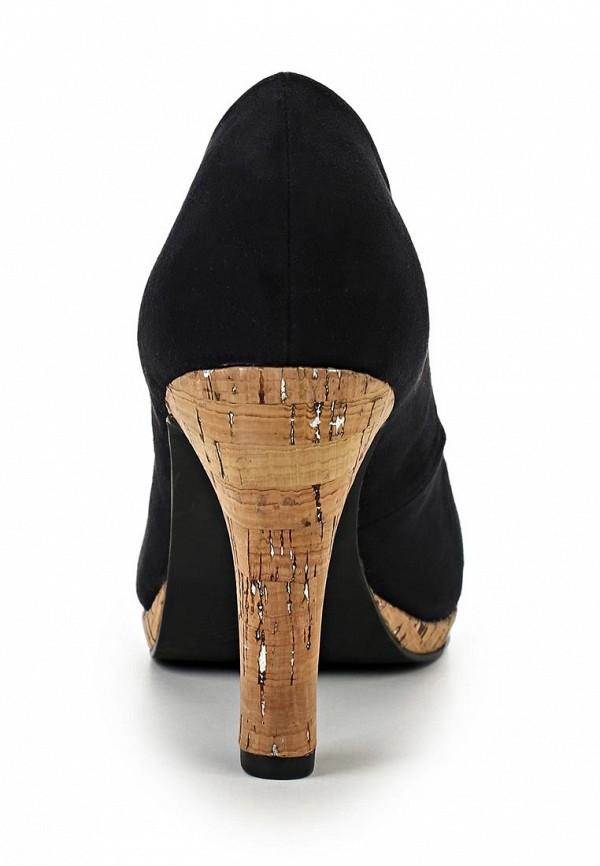 фото Туфли с открытым носом Marco Tozzi MA143AWACN87, черные/каблук