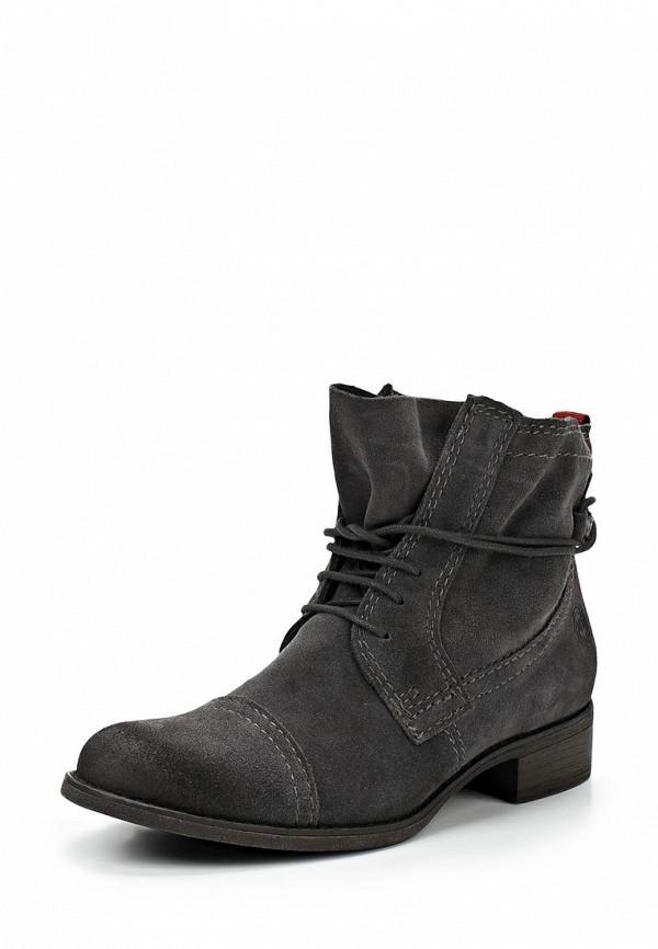 фото Ботинки женские на каблуке Marco Tozzi MA143AWCLU97, серые