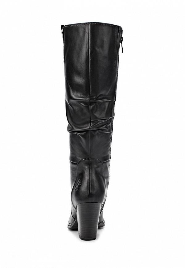 фото Сапоги на толстом каблуке Marco Tozzi MA143AWCLV16, черные кожаные