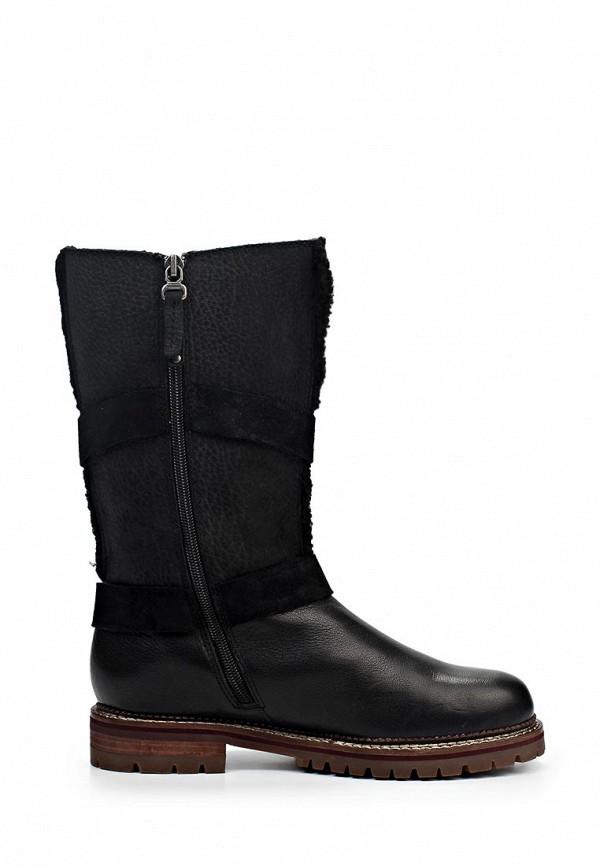 фото Сапоги женские короткие Marc O'Polo MA266AWIL939, черные кожаные
