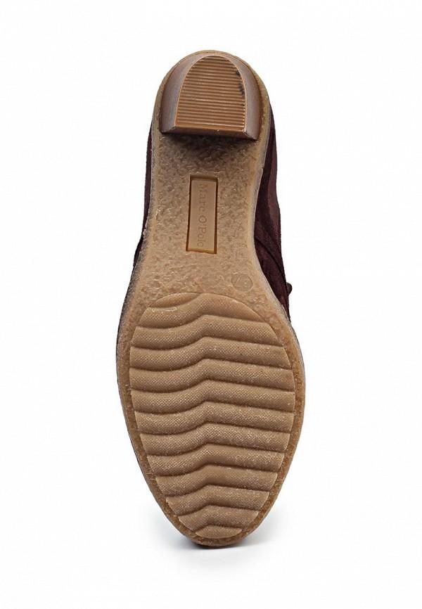 фото Ботильоны на шнурках Marc O'Polo MA266AWIL960, коричневые замшевые