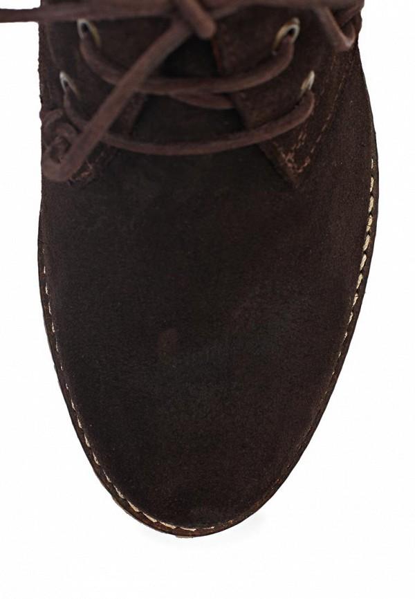 фото Ботильоны на толстом каблуке Marc O'Polo MA266AWIL961, коричневые на шнурках
