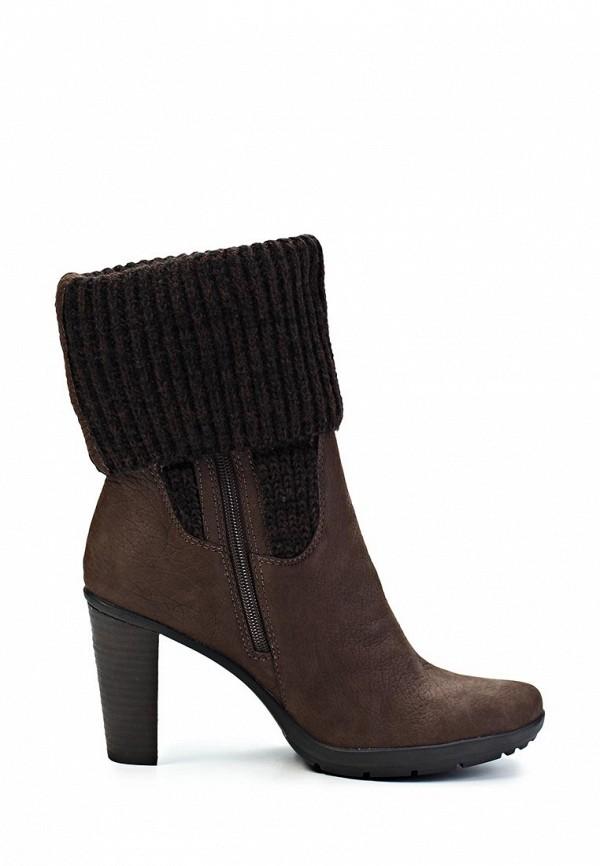 фото Женские полусапоги на высоком каблуке Marc O'Polo MA266AWIO195, коричневые
