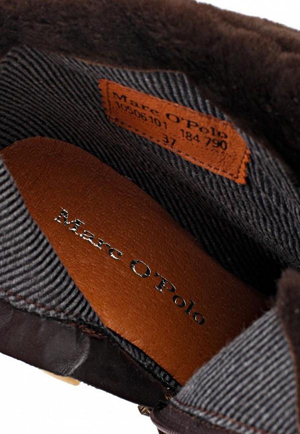 фото Ботильоны на толстом каблуке Marc O'Polo MA266AWKZ342, коричневые