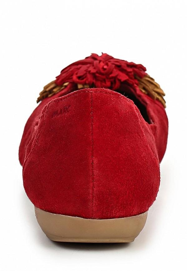фото Балетки женские Marc MA361AWAQW56, красные велюровые
