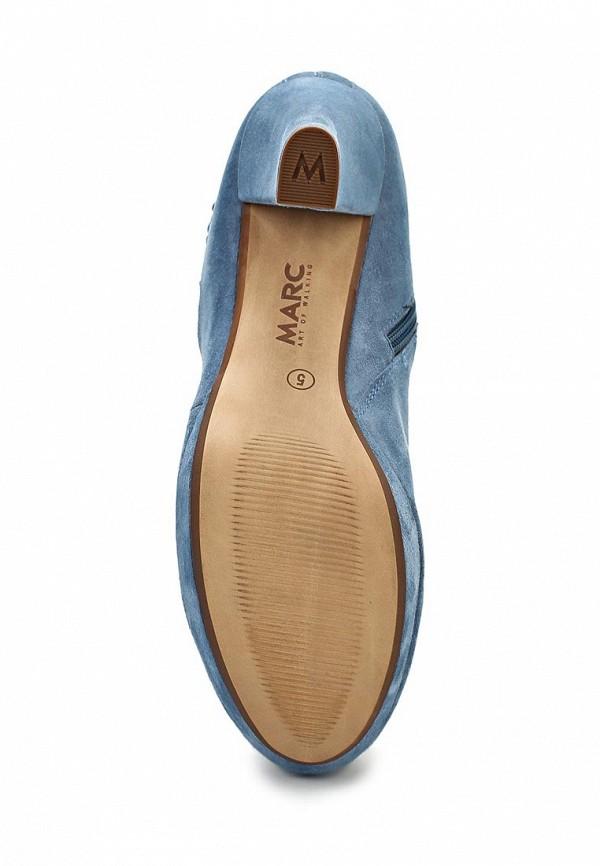 фото Женские полусапожки на высоком каблуке Marc MA361AWAQX07, синие