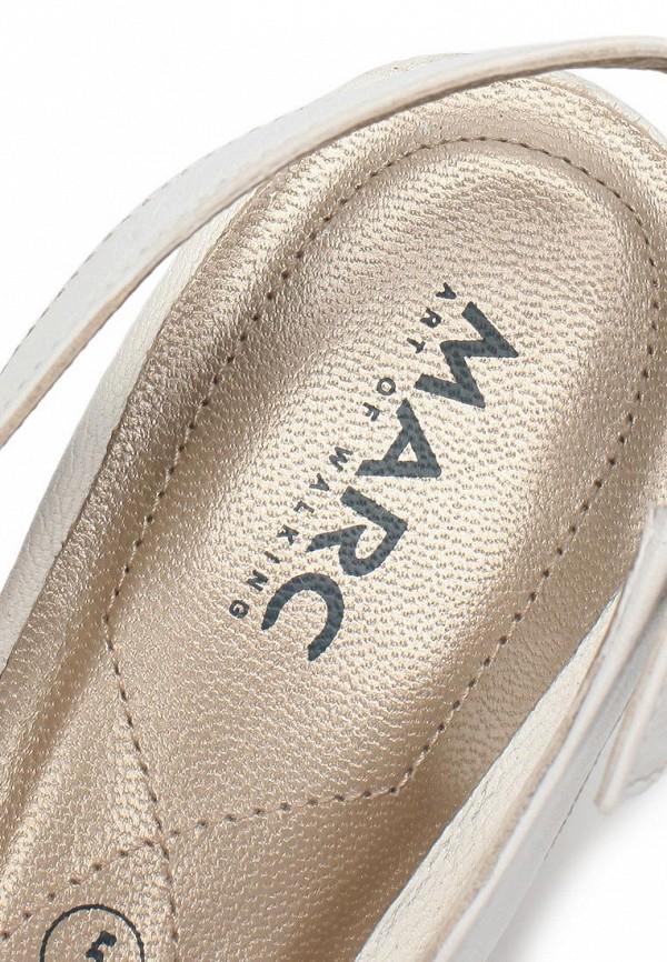 фото Туфли на низком каблуке Marc MA361AWAQX13, белые кожаные