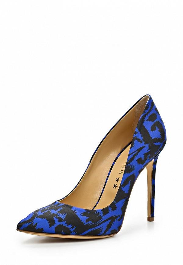 фото Туфли на каблуке-шпильке Marc Ellis MA992AWBLY71, черно-синие