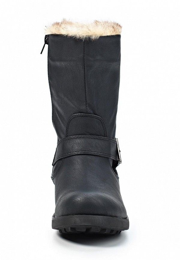 фото Женские полусапожки на низком каблуке Mefice ME002AWKW847, черные