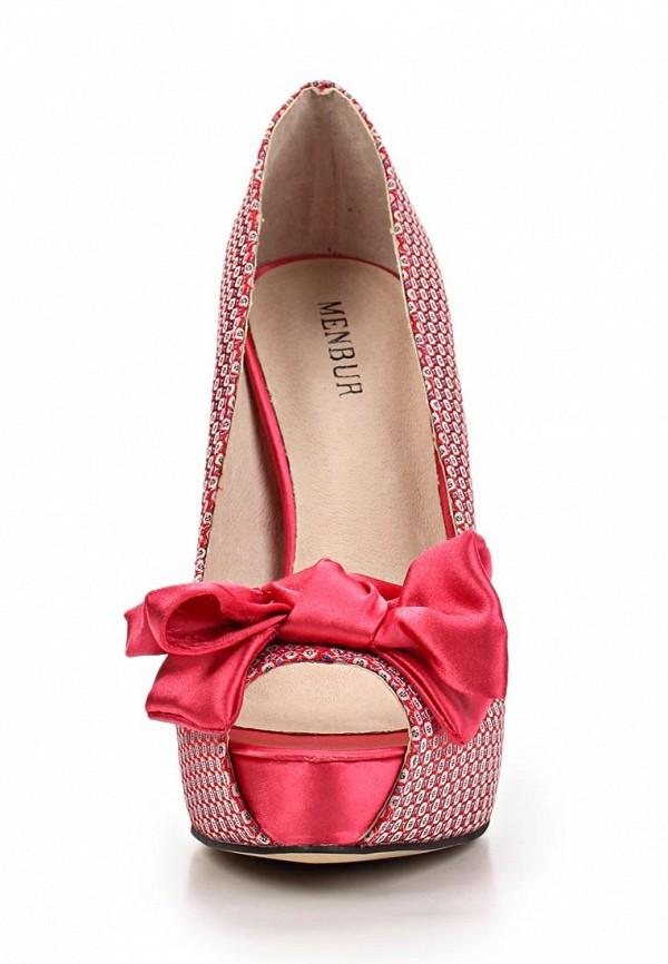 фото Туфли на платформе и высоком каблуке Menbur ME005AWBKV93, розовые
