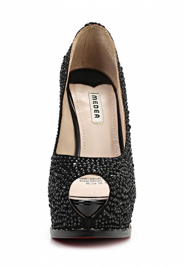фото Туфли на платформе и шпильке Medea ME248AWBEN30, черные со стразами
