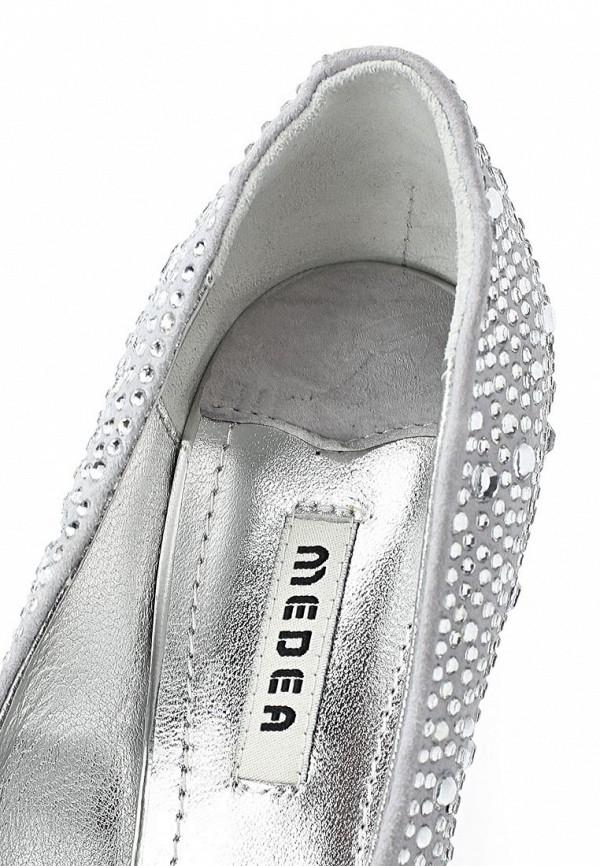 фото Туфли на платформе и шпильке Medea ME248AWBEN31, серебристые со стразами