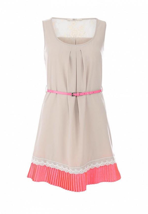 Платье Mia. Цвет: бежевый