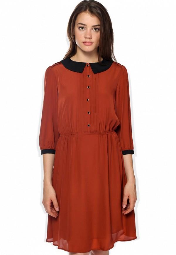 Платье Mint&Berry. Цвет: коричневый