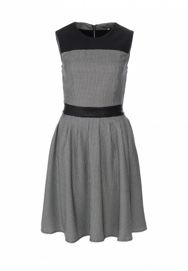 Платье Mint&Berry. Цвет: серый, черный