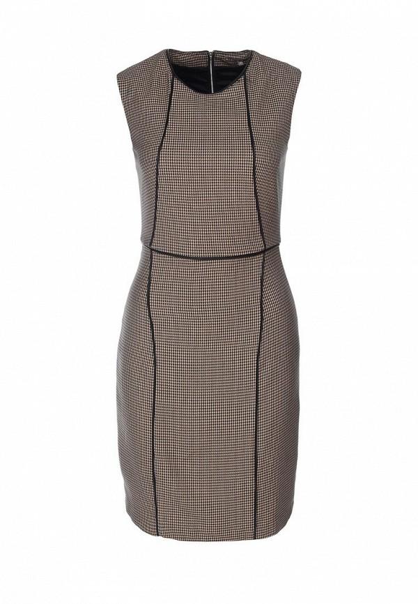 Платье Mint&Berry. Цвет: черный, бежевый