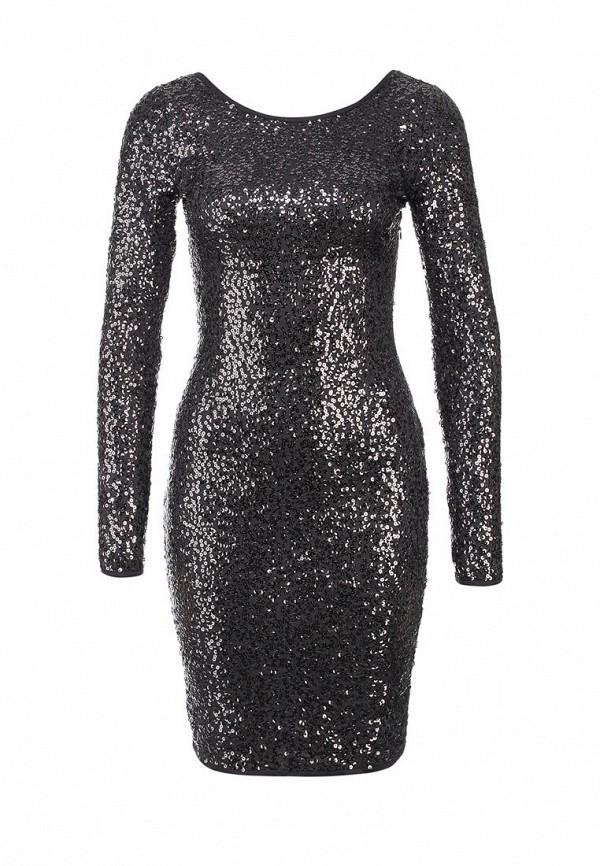 Платье Mint&Berry. Цвет: серебряный