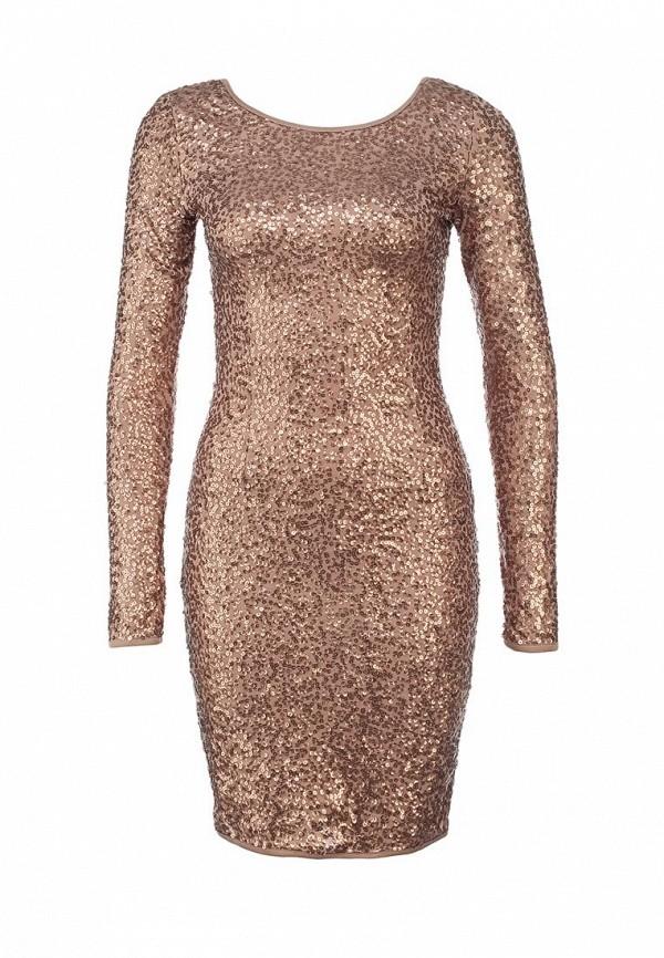 Платье Mint&Berry. Цвет: бронзовый