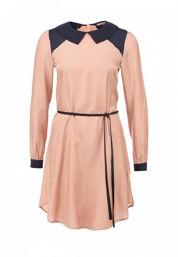 Платье Mint&Berry. Цвет: бежевый