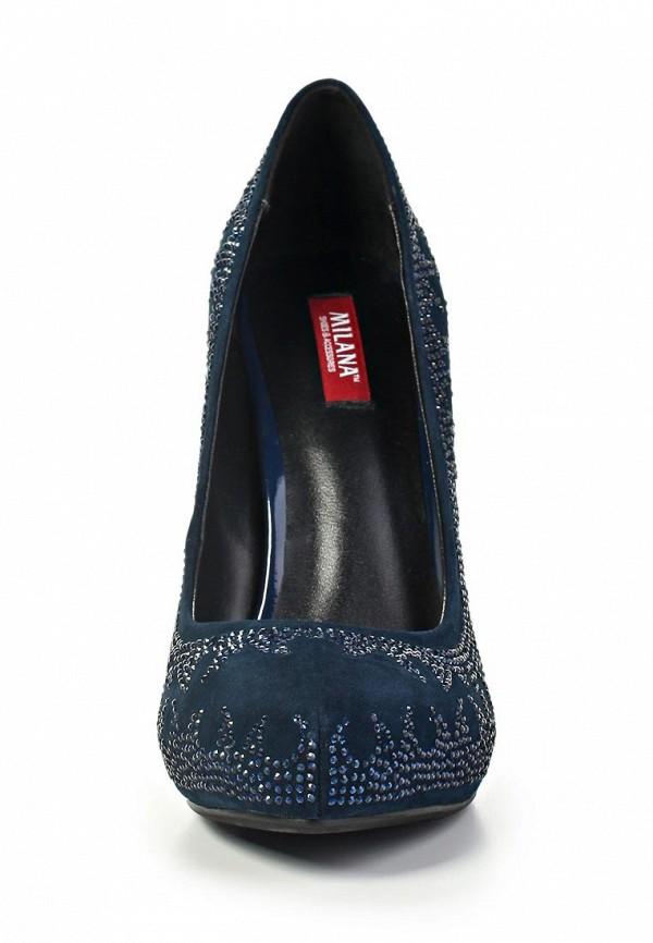 фото Туфли на высоком каблуке Milana MI840AWABF51, синие со стразами