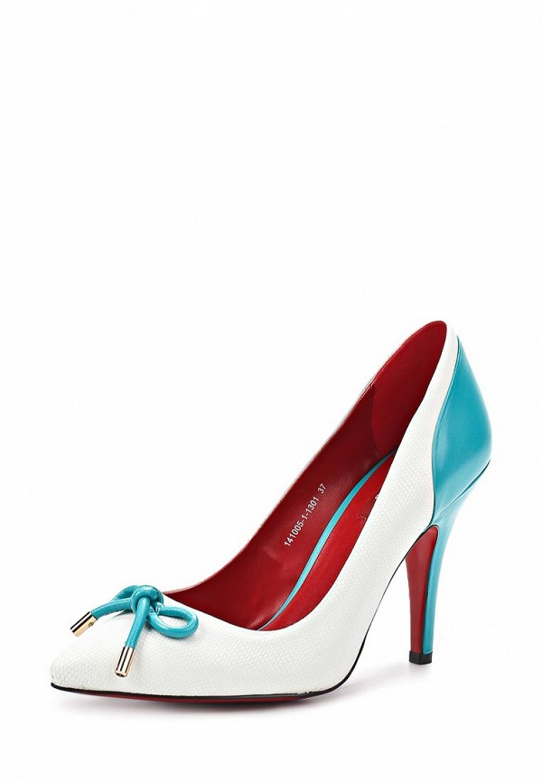 фото Туфли на каблуке Milana MI840AWABF56, белые кожаные
