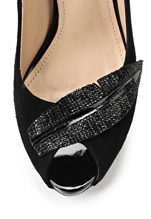 фото Туфли на шпильке с открытым носом Milana MI840AWABG20, черные
