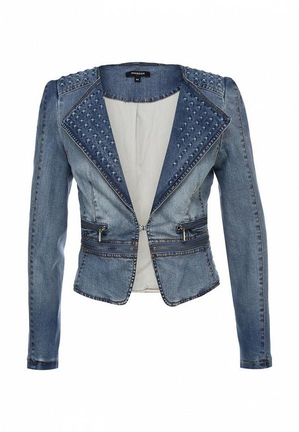 Куртка джинсовая Morgan MO012EWAUB36. Цвет: голубой