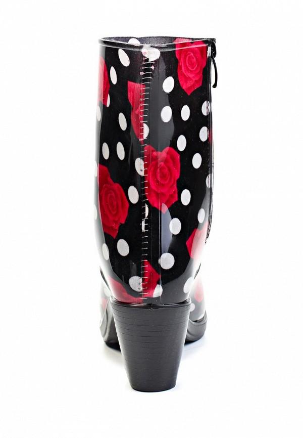 фото Резиновые сапоги женские Mon Ami MO151AWGK603, черные с красным