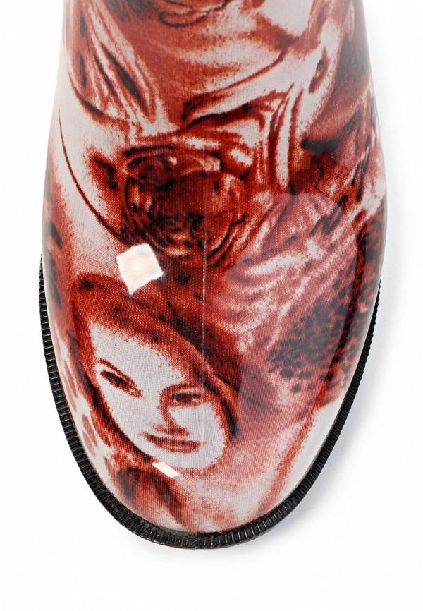 фото Резиновые сапоги женские Mon Ami MO151AWGK630, коричневые/мульти
