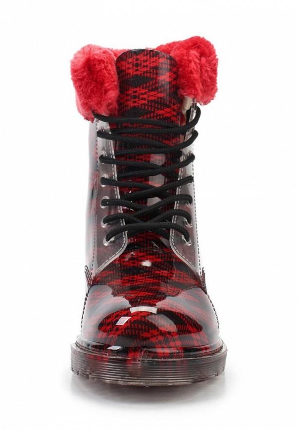 фото Резиновые полусапоги женские Mon Ami MO151AWKS928, красно-черные