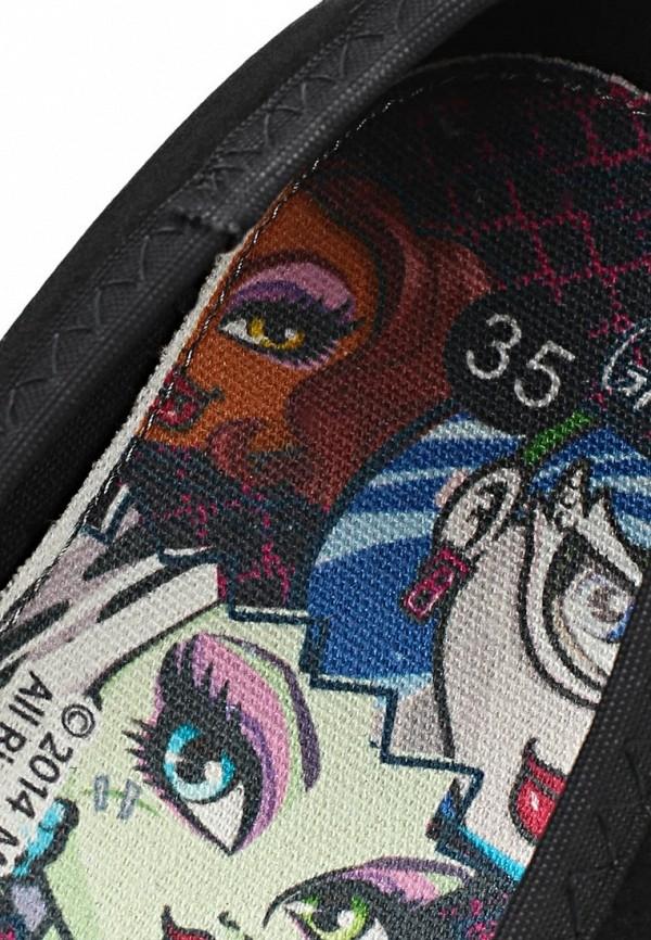 фото Балетки женские Monster High MO995AGBLJ97, черные (велюр, лак)