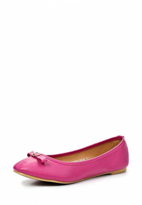 фото Балетки женские Mol&Pop MP001AWAAD14, розовые (иск. кожа)